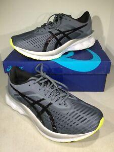 asics Novablast Men's Size 10.5 Gray/Black Athletic Running Shoes X6-930