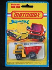 MATCHBOX SUPERFAST 26 Side Dumper MINT & SEALED TYPE 9 BLISTER USA