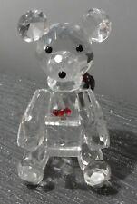 CUT GLASS TEDDY BEAR IN PINK PRESENTATION BOX