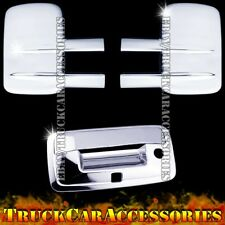 For CHEVY Silverado 2500/3500HD 2014 2015 Chrome Covers Towing Mirrors+Tailgate