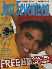 Just Seventeen Magazine 27 November 1985    UB40    Siouxsie    Daniel Day Lewis