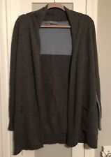 360 Sweater Small Grey Light Blue Colorbock 100% cashmere cardigan gray