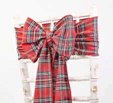 Christmas Table Decorations Settings EBay - Christmas tartan table decoration