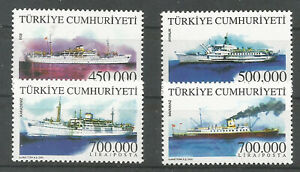 2002 TURKEY SHIPS COMPLETE SET MNH