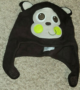 INFANTS SIZE 6-18 MONTHS CUTE MONKEY BROWN HAT SOFT  BY JUMPING BEANS