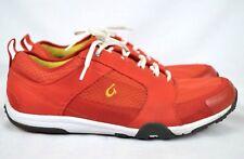 Olukai Kamiki Womens Water Shoes Light Weight Athletic Sneakers Red-Orange Sz 11