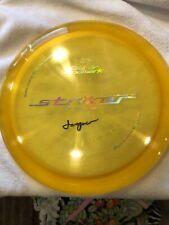 Jesper Lundmark Striker Autographed By Jasper. Opto Plastic Sweden Made Yellow