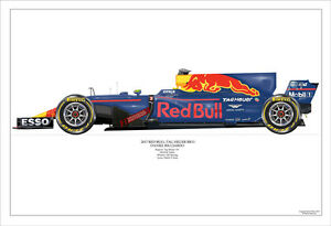 2017  Max Verstappen Red Bull RB13 ltd ed. 1 / 250 signed & numbered by artist