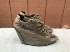NEW Adidas Slvr Olive Green Clima Wedge Mesh Shoes Size US 7 EUR 38 2/3 A3