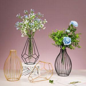 Iron Line Flower Vase Metal Plant Holder Modern Nordic Styles Home Garden Decor