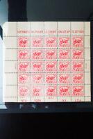 US Stamps # 630 Fresh Mint White Plains Souvenir Sheet of 25