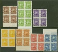 Salvador 1891 VOLCANO/TRAIN/SHIP color proof blocks-2