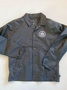 Vans Jacket Youth Boy's Medium (10-12) New Torrey Snap Up Black