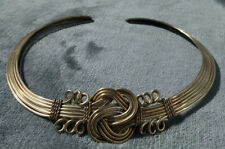 Brass String Wire Tribal Ethnic Choker Handmade Necklace - South American