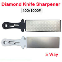 5 Way Diamond Sharpening Stones Whetstone 400/1000# Double Sided Blade & Scissor