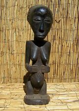 "African Luba Female Figure From Democratic Republic Congo 19 1/2"" Tall"