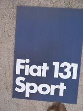 1978 Fiat 131 Sport Auto Color Promo Brochure German Text MORE PROMOS IN STORE U
