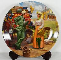 """8"""" NIB 1986 Oklahoma! I Cain't Say No Mort Kunstler Peddler Porcelain Plate"""