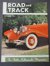 Vintage Road & Track Magazine September 1951