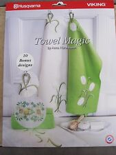 Towel Magic Designs Embroidery by Husqvarna Viking with CD-ROM NEW #214
