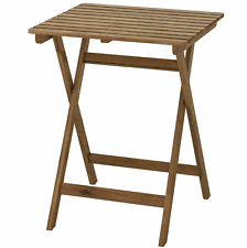 IKEA ASKHOLMEN Table Only Outdoor Foldable Light Brown Stained (60x73 Cm)