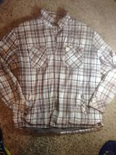 Quiksilver mens Plaid Jacket Button UP coat Thick lined 2XL XXL With Defect Ked