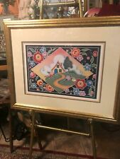 Mary Engelbreit Signed Cottage Cameo Framed Print