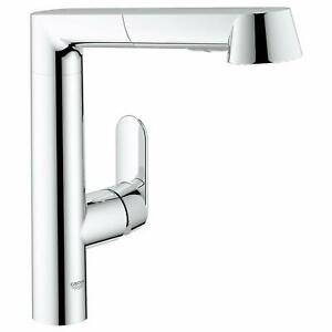 Grohe 32178000 K7 Single Handle Pull Out Kitchen Faucet, Polished Chrome Finish