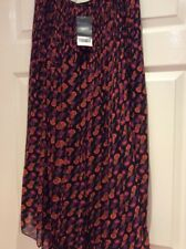 "Bnwt  Fully Lined Patterned Maxi Skirt From ""NEXT "" Size 10 Length 36 Ins."