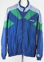 Vintage 90's Starter Windbreaker Jacket Colorblock Size XL Zip Up Jacket