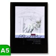 A3 A4 A5 Sketch Book Pad White Cartridge Paper Black Hardback Spiral Bound New