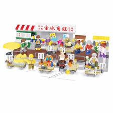 Chinese Cartoon Drink Food Street View Building Blocks Models Bricks Figure Toys