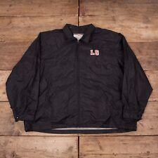 """Vintage pour homme Levis Noir Léger Fermeture Éclair Coach Jacket Xl 48"""" R7202"""