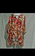 Jodifl Women's Hi-Low Tunic Size Large Keyhole Neck 3/4 Sleeve