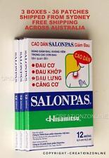 SALONPAS 36 Pain Relieving Patches Arthritis Muscle Pain Relief SYDNEY STOCK