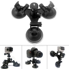 Car Windshield Triple Vacuum Suction Cup Fat Mount For GoPro Hero 3+ /4 /5