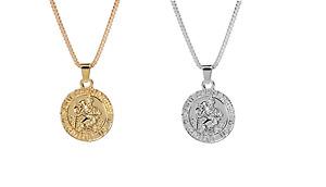 SAINT CHRISTOPHER  Pendant Women Men Amulet Jewelry Necklace Nice UK Gift