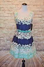 Modcloth Charm Consultant dress NWT 10 fit 12  A-line Tiana B Navy Mint floral