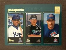 2001 Topps Dee Brown Royals Jack Clist Diamondbacks Vernon Wells Blue Jays 736