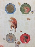 2017 Beatrix Potter full set 50p Fifty pence Coin hunt collector album NEW