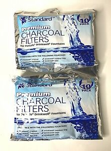 20 PET STANDARD Premium Charcoal Filters For PetSafe Drinkwell Fountains 2 Packs