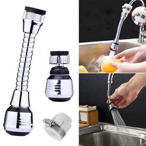 360° Sink Tap Spray Head Flexible Faucet Extender Kitchen Bendable Attachment