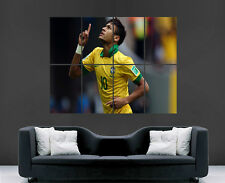Neymar Brasil Fútbol Imagen De Pared Póster Gigante Enorme