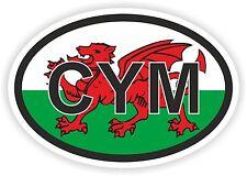Cym Gales Gb Reino Unido código de país Bandera pegatina Casco Car Carro Patineta Nevera