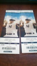 2013 NEW YORK YANKEE TICKET STUBS MARIANO RIVERA'S PICTURE