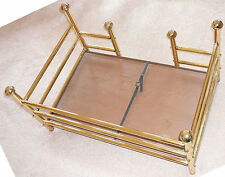 Brass and wooden base Victorian style dog or cat bed PRICED TO SELL