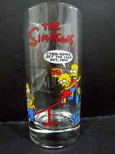 Hungry Jacks The Simpsons Glass (Homer, Bart, Lisa & Maggie on a see-saw)