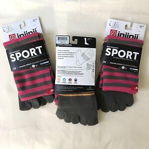 Injinji Toe Socks Coolmax Large Performance Sport Toesox Yoga Pilates 5 Fingers