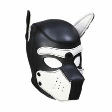 Leather Dog puppy Hood mask Quality Neopreme full face White snout etc