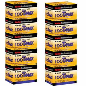 10 Rolls Kodak TMAX 100 ISO TMX-24 Black & White Negative Print 35mm Film fresh